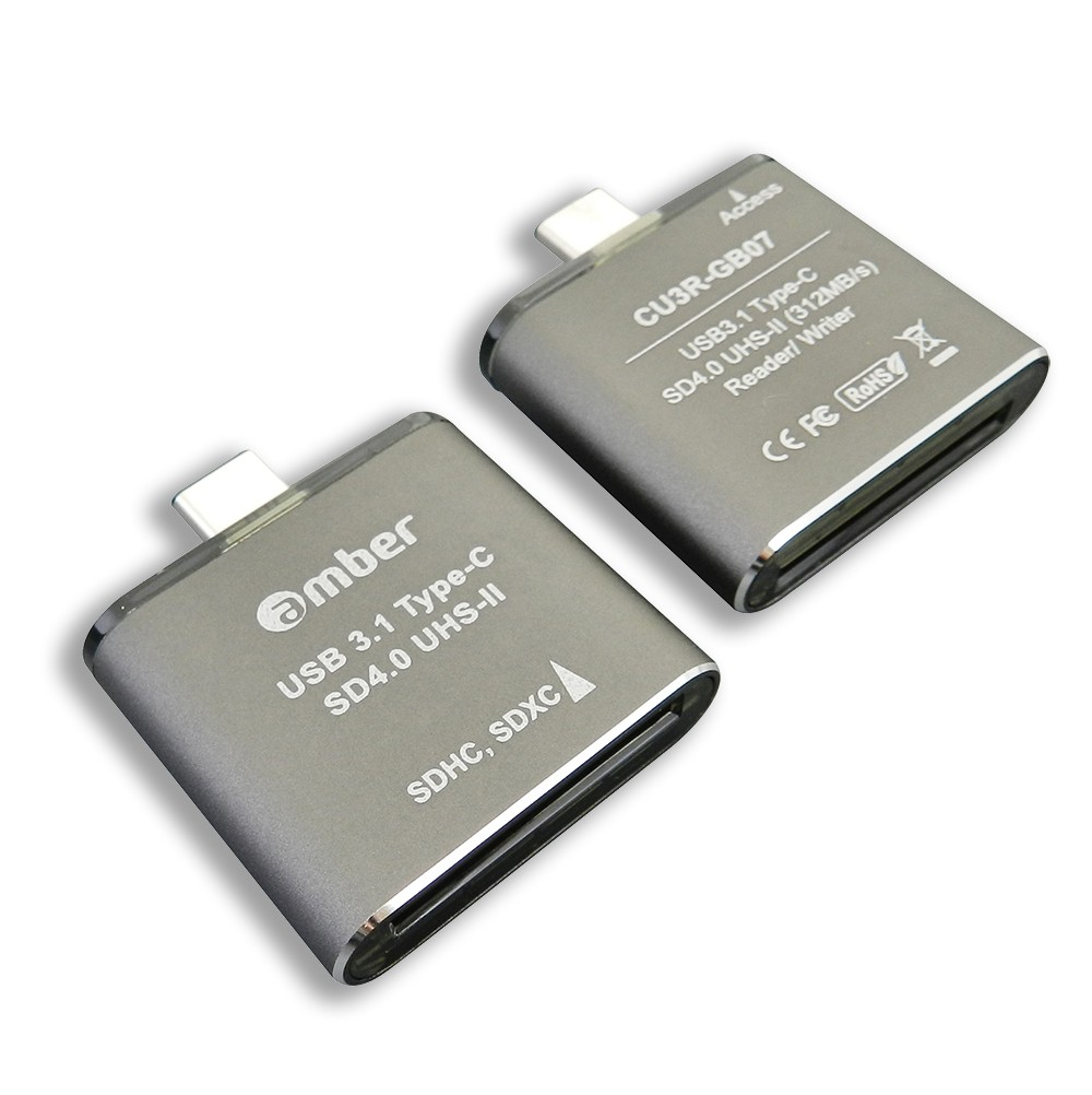 [CU3R-GB07] The Super Fastest SD4.0 reader/ writer. USB 3.1 Type-C to SD4.0 UHS-II, 312 MB/s, high-class aluminum case.