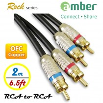 AR120_ RCA to RCA Stereo Audio Cable, Analog, OFC, 24K gold plated.