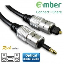 AT11_ S/PDIF Optical Digital Audio Cable, mini Toslink (3.5mm) to Toslink, 1m.
