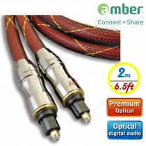 [AT220] PREMIUM Optical Digital Audio Cable, S/PDIF, Toslink to Toslink. 2m (6.5ft).