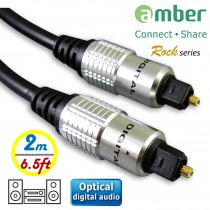 AT22_ S/PDIF Optical Digital Audio Cable, Toslink to Toslink, 2m (6.5ft)