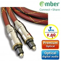[AT230] PREMIUM Optical Digital Audio Cable, S/PDIF, Toslink to Toslink, 3m.