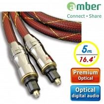 [AT250] PREMIUM Optical Digital Audio Cable, S/PDIF, Toslink to Toslink, 5m.