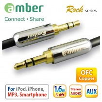 [AX10] 3.5mm AUX Stereo Audio Cable, 24K gold plated, OFC.
