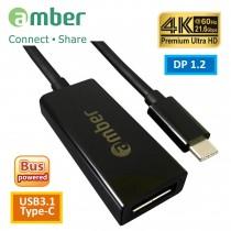 [CU3-ADP1] USB3.1 Type-C to DisplayPort (DP1.2), Premium 4K @60Hz.