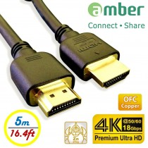 [HM-AA150] Top HDMI Cable A - A, OFC, 5m, Premium 4K Ultra HD