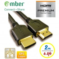 HM2-AA120_ PREMIUM HDMI 2.0b Certified Cable, A-A, OFC, 2m, PREMIUM High Speed HDMI cable with Ethernet