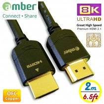 HM2-AA820_ 8K Ultra HD HDMI 2.1 cable, A-A, 8K@60Hz, 48Gbps, OFC, 2m (6.5ft), The Best HDMI 2.1 cable.