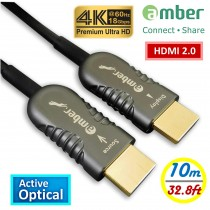 HMAO-P10_ HDMI 2.0 Active Optical Cable(AOC), A-A, Premium 4K @60Hz/ 18 Gbps, HDR, 4:4:4, 10m, Panther Beyond