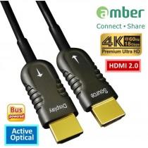 HMAO-P10_ HDMI 2.0 Active Optical Cable(AOC), 10m, Premium 4K @60Hz/ 18 Gbps, HDR, 4:4:4