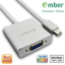 [MDP-V22] Adapter mini DisplayPort to VGA, active ( Thunderbolt to VGA; mini DP to VGA.)