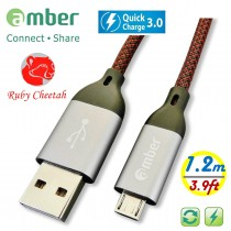 MUB-C12_ USB A to micro USB cable, Sync & Fast Charge, Quick Charge, tough PET braid cable & strong Aluminum case, 1.2 m (3.9ft.)