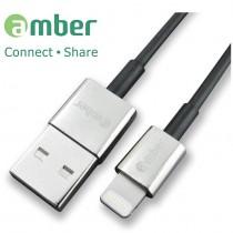 ALT-U02_ USB Lightning cable for iPhone/ iPad,極速快充/資料傳輸線,鋅合金一體成型,高導性無氧銅(OFHC)導體。