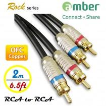 {AR120} RCA對RCA 立體聲音響線(Stereo Audio),類比式Analog , 24K鍍金, OFC無氧銅