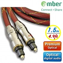 [AT215] PREMIUM Optical Digital Audio S/PDIF,超優質光纖數位音訊傳輸線,Toslink對Toslink。1.5米