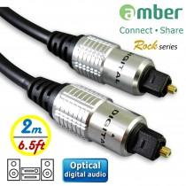 AT22_ 光纖數位音訊傳輸線,S/PDIF Optical Digital Audio,角型接頭Toslink對Toslink,[數位音訊]對[數位音訊],2米