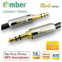 [AX10] 3.5mm AUX Stereo Audio立體聲音響線,24K鍍金,無氧銅。