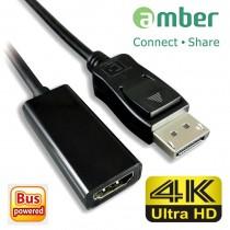 [DPH-11] 轉接器Adapter DisplayPort轉HDMI 4K. (DP to HDMI 4K)