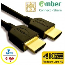 [HM-AA130] 超優質Premium 4K UHD,超高品質HDMI A-A傳輸線,支援HDMI 2.0規格。3m。