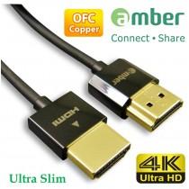 [HM-AA220] 超優質Premium 4K UHD,超細HDMI A-A傳輸線,OFC無氧銅,支援HDMI 2.0規格。1.8m。