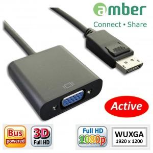 [DPV-02] 主動式轉接器Active Adapter, DisplayPort轉VGA (DP to VGA)