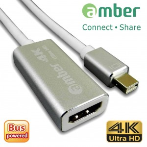 [MDP-H21] 轉接器mini DisplayPort轉HDMI 4K ( Thunderbolt to HDMI 4K; mini DP to HDMI 4K.)